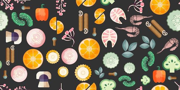 Modny wzór żywności