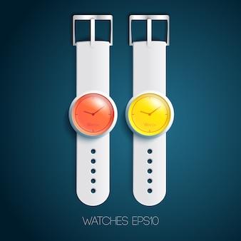 Modny zegarek z akcesoriami
