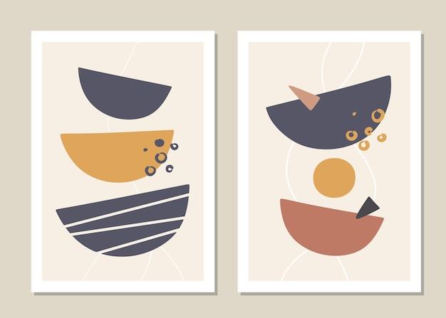 Modny zestaw abstrakcyjnych kształtów geometrycznych