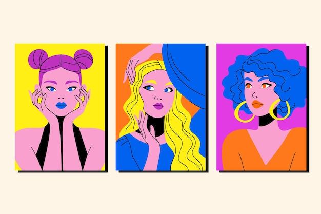 Modny zestaw okładek do portretów mody