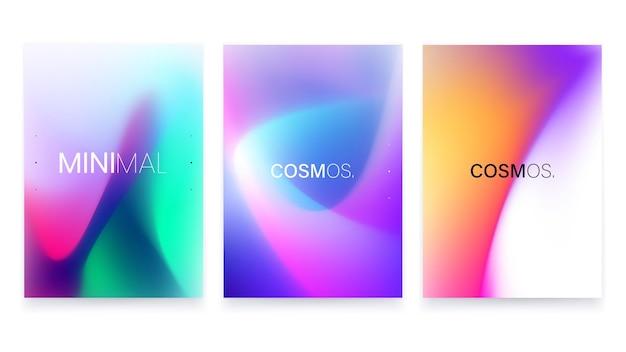 Modny zestaw plakatów a4 w płynnym gradiencie