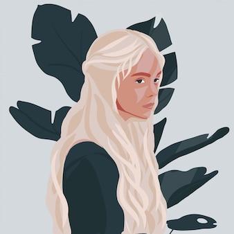 Mody dziewczyny młoda blond kobieta