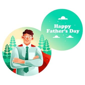 Mój tata jest moim bohaterem szczęśliwego dnia ojca