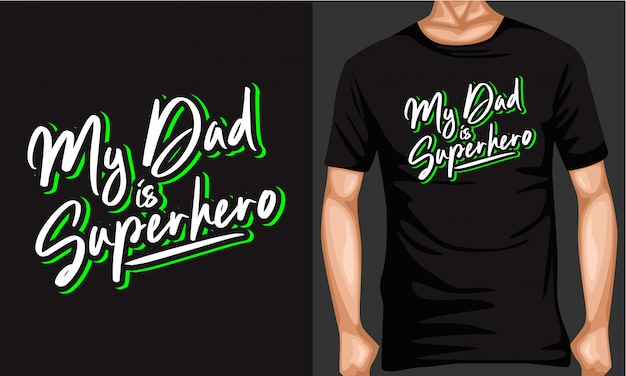 Mój tata jest typografią superbohatera