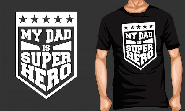 Mój tata superbohater napis typografia