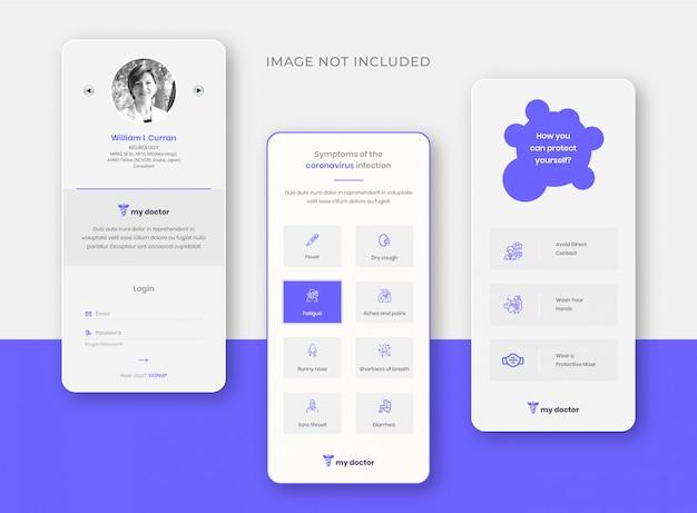 Moja aplikacja do opieki zdrowotnej szablon projektu aplikacji do opieki zdrowotnej online