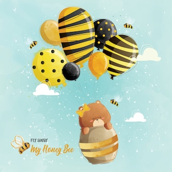 Moja honey bee