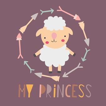 Moja karta księżniczki z uroczą jagnięciną
