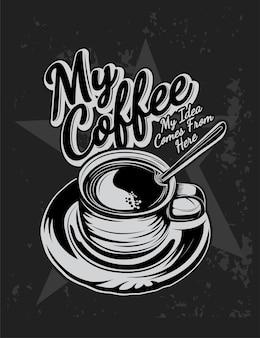 Moja kawa, filiżanka kawy