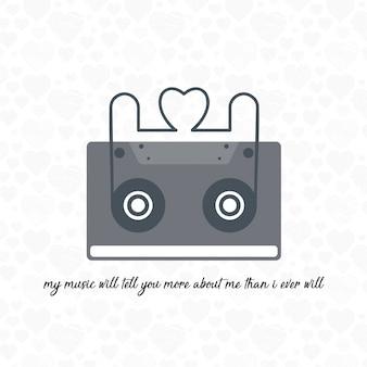 Moja muzyka powie Ci więcej o mnie niż kiedykolwiek będę typograficzną kartą