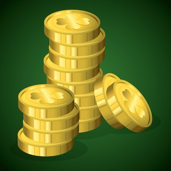 Monety skarbów dzień świętego patryka