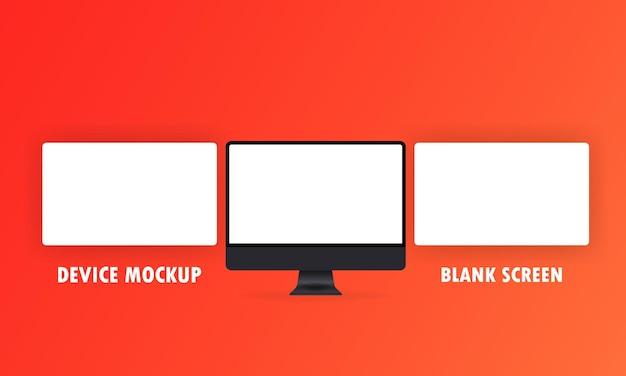 Monitor komputera z pustym ekranem
