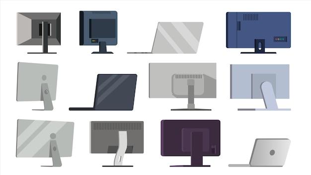 Monitor zestaw wektor