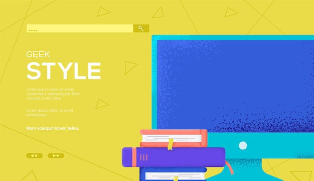 Monitoruj i rezerwuj ulotkę koncepcyjną, baner internetowy, nagłówek interfejsu użytkownika, wprowadź witrynę. tekstura ziarna i efekt szumu.