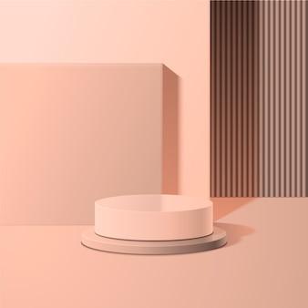 Monochromatyczna abstrakcyjna scena 3d