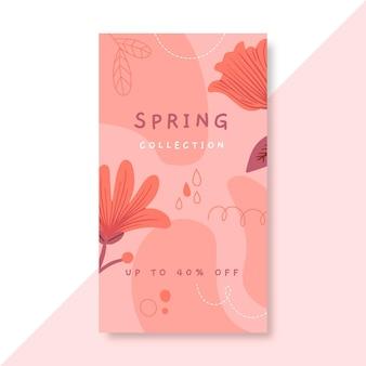 Monochromatyczna wiosenna historia na instagramie