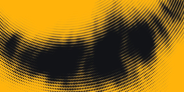 Monochromatyczne drukowanie rastrowych, streszczenie tło wektor półtonów.