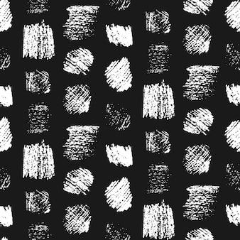 Monochromatyczne grunge porysowany wzór kwadraty. moda czarno-biała porysowana tekstura