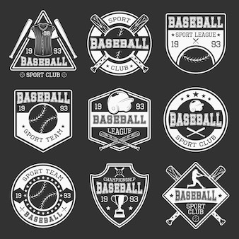 Monochromatyczne logo baseballu