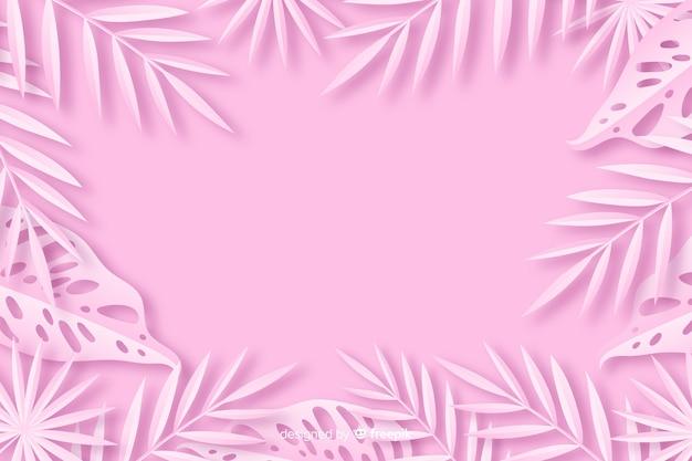 Monochromatyczne tła z liści w stylu papieru