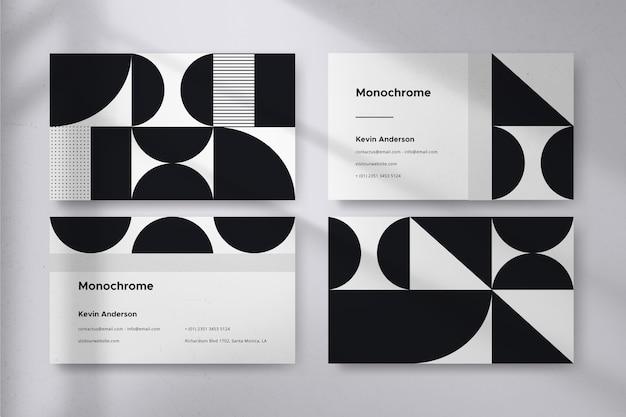 Monochromatyczne wizytówki