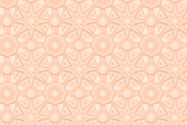 Monochromatyczny beżowy wzór z kształtami
