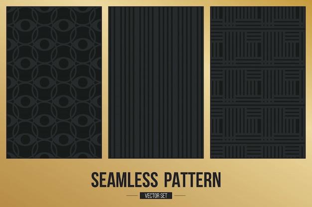 Monochromatyczny geometryczny deseniowy tło set.