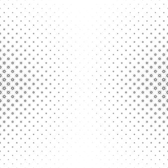 Monochromatyczny gwiazdy wzór - wektor tle ilustracji z geometrycznych kształtów
