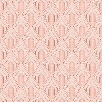 Monochromatyczny jasnobrązowy wzór w stylu art deco