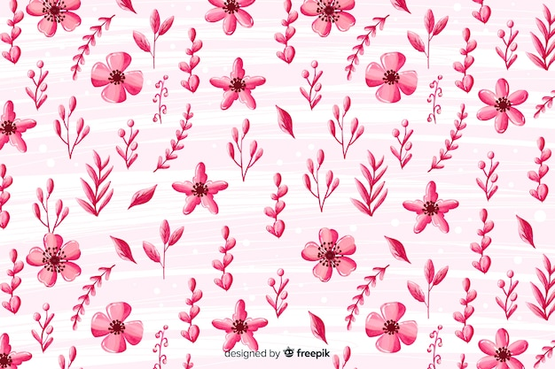 Monochromatyczny kwiatowy tło akwarela