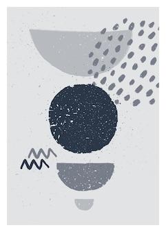 Monochromatyczny minimalistyczny plakat abstrakcyjna sztuki