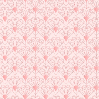 Monochromatyczny różowy wzór w stylu art deco