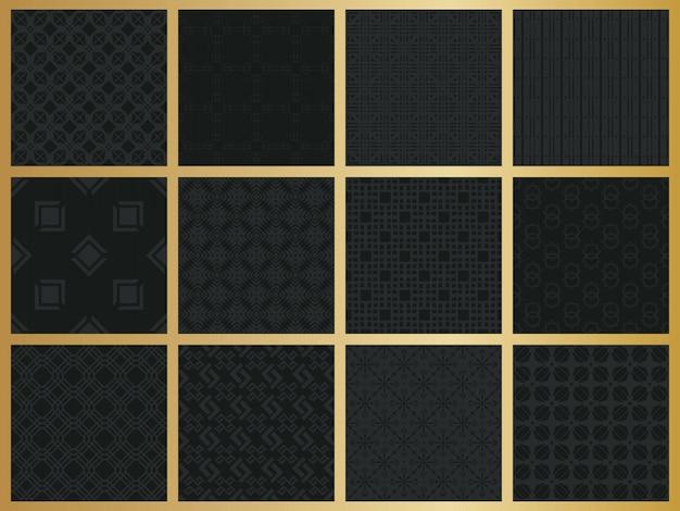 Monochromatyczny wzór geometryczny zestaw.