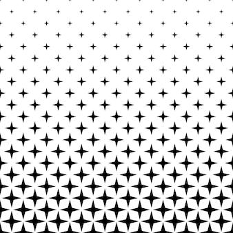 Monochromatyczny wzór gwiazdy - abstrakcyjne tło wektor z kształtów geometrycznych