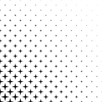 Monochromatyczny wzór gwiazdy - tło wektor graficzny wzór z geometrycznych kształtów