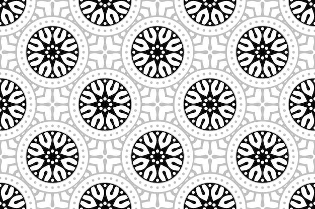 Monochromatyczny wzór mandali