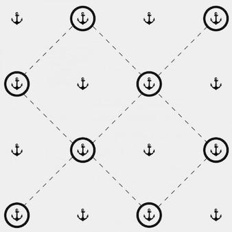Monochromatyczny wzór z kotwami