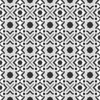 Monochromic islamski dachówka wzór