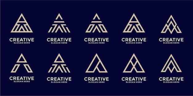 Monogram kolekcji logo listowego