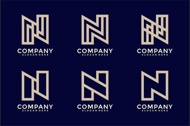 Monogram kolekcji logo litery n