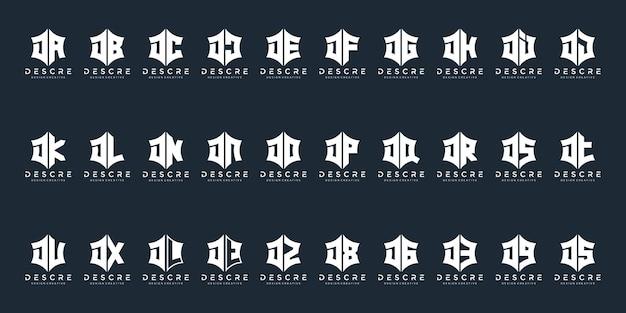 Monogram litera j logo projektowanie inspiracji ikony dla biznesu luksusowego eleganckiego prostego