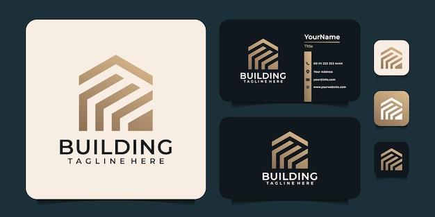 Monogram logo budowy architektury budynku
