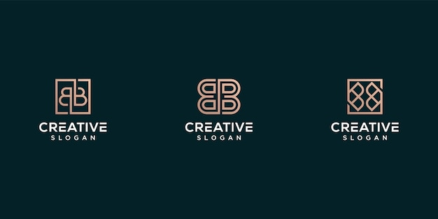 Monogram logo litera b projektowanie logo