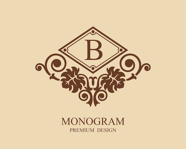 Monogram logo rocznika szablonu