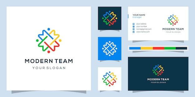 Monogram m i design community, logo i wizytówki.