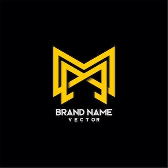 Monogram m letter typografia logo design