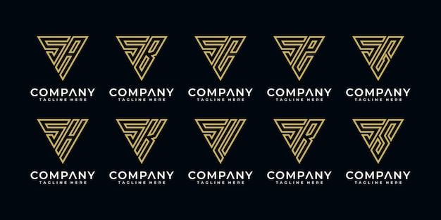 Monogram ustawia logo i itp