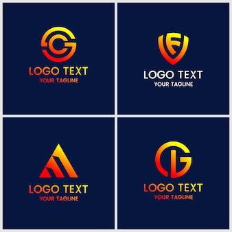 Monogram zestaw szablonów projektu logo