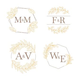 Monogramy weselne