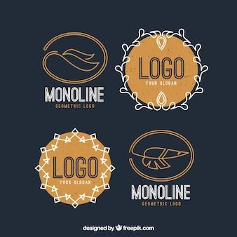 Monoline logo pack z piórami